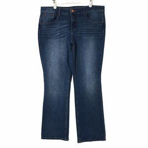 Time and Tru Jeans Mid-Rise Bootcut 37x30 Size 18